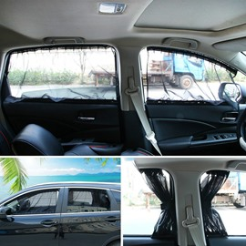 2 x 50L Universal Fit Car Side Window Sun Shade