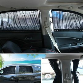 2 x 70L Universal Car Side Window Car Curtains