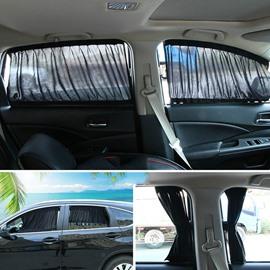 2 x 50s Car Interior Adjustable Window Curtain