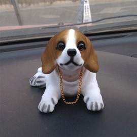 Resin Flocking Shaking Head Beagle Creative Car Decor