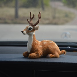 Simulating Lovely Deer Creative Car Decor