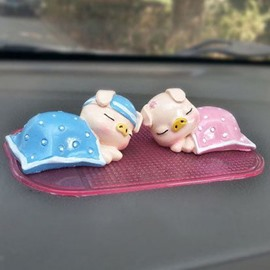 Sleeping Cute Pigs Creative Car Decor
