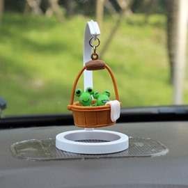 Creative Frog In Bucket Cartoon Stand Car Decor
