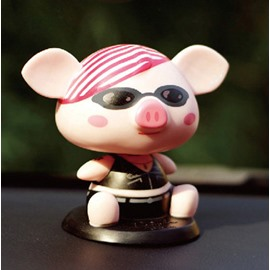 Fashionable And Cool Pig Cartoon Style Creative Car Decor
