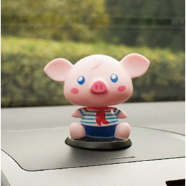Cute Pig Style Wearing Blue Navy Suit Creative Car Decor