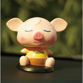 Dreaming Small Cute Fat Pig Style Creative Car Decor