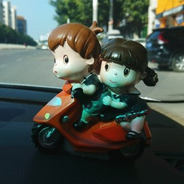 Innocence Cartoon Characters Cycling Dating Creative Car Decor