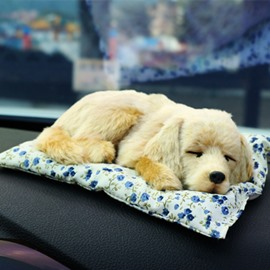 Lovely Golden Hair Pet Dog Style Most Popular Car Creative Decor