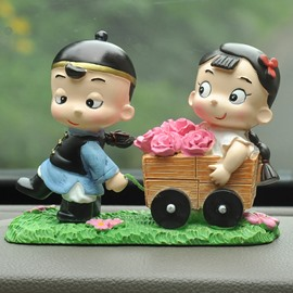 Romantic Love Implication And Good Lucky Cute Car Creative Decor