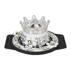Rhinestone Crown Style Car Perfume Seat With Fine Anti-Slip Mat Beautiful Car Decor ( The Perfume Holder Does Not Contain Perfume )