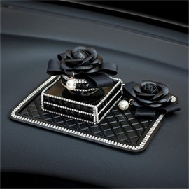 Camellia Style Car Perfume With Fine Anti-Slip Mat Original Car Decor