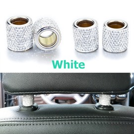 2Piece Sparkling Rhinestone Car Pillow Holder Decoration