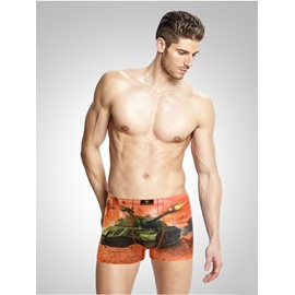 Tank Open Fire Creative 3D Print Lifelike Cotton Man's Briefs