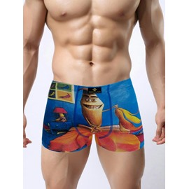 Interesting And Cute Banana Spoof Pattern Design 3D Print Man's Briefs