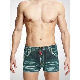 New Distress Old Jeans Style Design 3D Pattern Creative Cotton Man Underwear Briefs