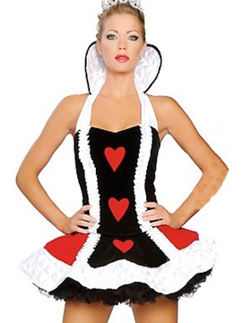 Fantastic Queen Of Heart Layered Skirt Costume