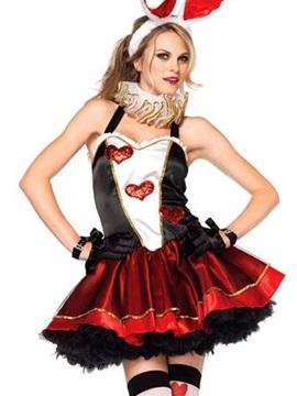 Sexy Mini Layered Skirt Heart Valentine' s Costume
