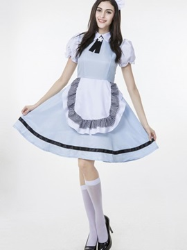 Elegant And Beautiful Maid Design With Cute Apron Cosplay Costumes