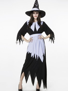 Classic Magic Wizard Modeling With Dome Hat Cosplay Costumes