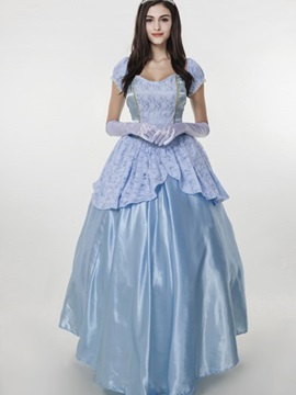 Bright Blue Color Cinderella Cloth Special Size Cosplay Costumes