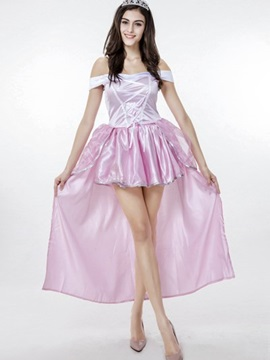 Bright Charming Pink Skirt With Crystal Crown Cosplay Costumes