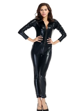 Classic Black Tight Sexy Thoracotomy Female Agents Cosplay Costumes