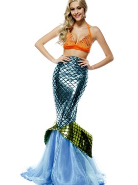 Beautiful Mermaid Style Design Sexy Bikini And Skirt Cosplay Costumes