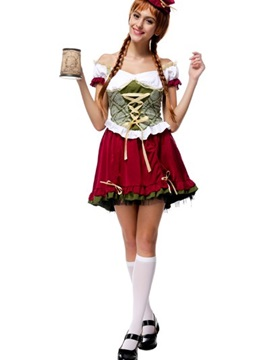 Beautiful Manor Beer Girl Modeling Popular Cosplay Costumes