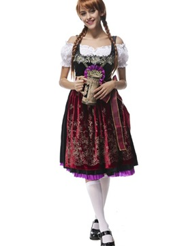 Lovely Red Beer Girl Skirt Design Charming Cosplay Costumes