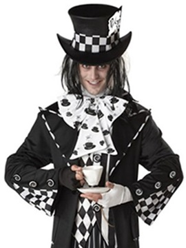 Concise Unique Lattice Design Halloween Clown Costume