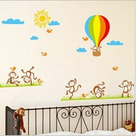 New Arrival Cute Monkey and Baloon Wall Stickers
