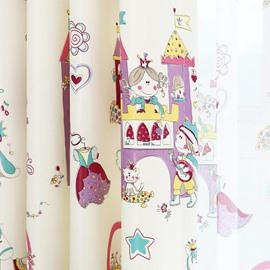 Cute Cartoon Design Cinderella Girls Room Curtain