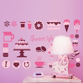 Sweet Pink Bakery Print Stickers for Kids