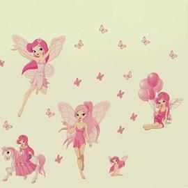 Cute Pink Spirit Pattern Wall Sticker