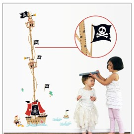 Cute Pirate Rover Height Measurement Kids Wall Sticker