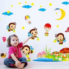 Cute Cartoon Bee Pattern Nursery Removable Wall Sticker