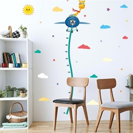 Durable Waterproof Flying Deer and Glider PVC Kids Room Height Ruler Wall Stickers