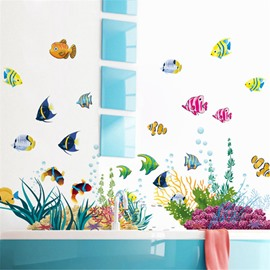 Durable Waterproof Sea Animals PVC Kids Room Wall Stickers