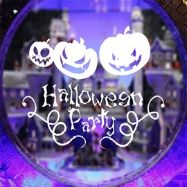 Durable Waterproof PVC Pumpkins and Halloween Party Kids Room Wall Stickers