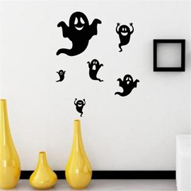 Durable Waterproof Flying Ghosts PVC Halloween Kids Room Wall Stickers