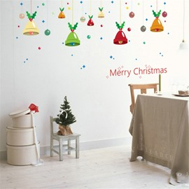 Durable Waterproof Christmas Bells PVC Kids Room Wall Stickers