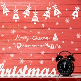 Durable Waterproof Bells PVC Christmas Kids Room Wall Stickers