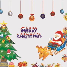 Durable Waterproof Merry Christmas PVC Kids Room Wall Stickers
