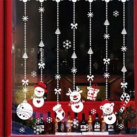 Durable Waterproof Hanging Christmas Gifts PVC White Kids Room Wall Stickers