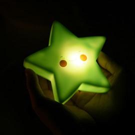Star Shaped Plastic Multi-Color Kids Room Night Light