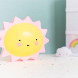Smiling Sun Shaped Plastic Yellow Kids Room Night Light