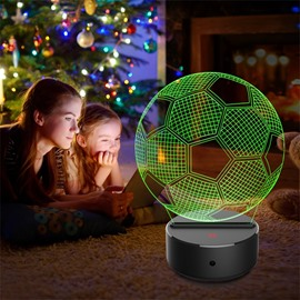 7 Colors Remote Control Football 3D Light LED Table Lamp Night Light/Lamp