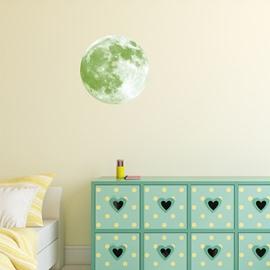 Luminous Moon And 28-Pieces Star Creative Kids Room Decor Waterproof Wall Sticker