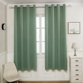 Simple Design 7 Pure Color Polyester Noise Reducing Shading Kids Curtain