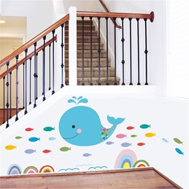 Dolphin Pattern Environment Friendly PVC Waterproof Living Room Kids Room Wall Sticker